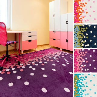 Meticulously Woven Dottie Contemporary Area Rug (2' x 3')