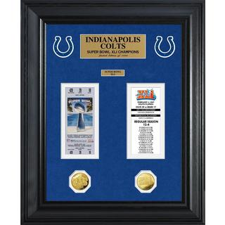 NFL Indianapolis Colts Super Bowl Ticket and Game Coin Collection Framed