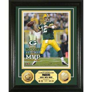 NFL Aaron Rodgers Green Bay Packers 2011 NFL MVP Gold Coin Photo Mint