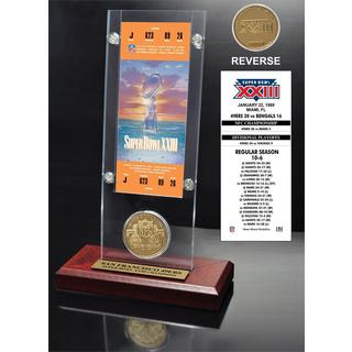 NFL Super Bowl 23 Ticket and Game Coin Collection
