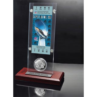 NFL Super Bowl 21 Ticket and Game Coin Collection