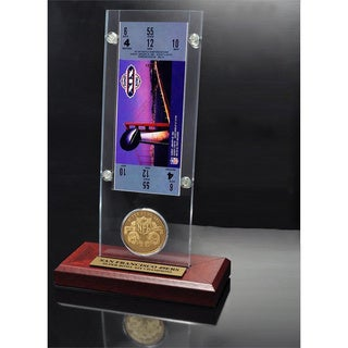NFL Super Bowl 19 Ticket and Game Coin Collection