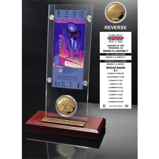 NFL Super Bowl 17 Ticket and Game Coin Collection