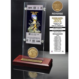 NFL Super Bowl 16 Ticket and Game Coin Collection