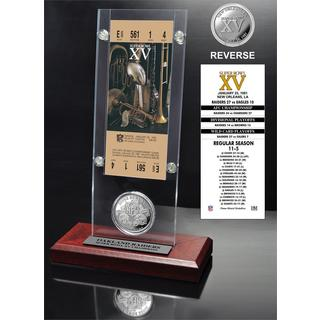 NFL Super Bowl 15 Ticket and Game Coin Collection