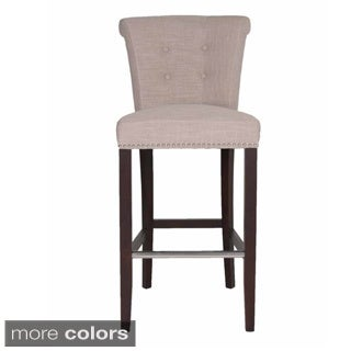 Layla Linen-upholstered 30-inch Bar Stool