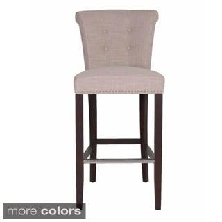 Layla Linen-upholstered 30-inch Bar Stool