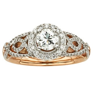 Sofia 14k Two-tone Gold 1/2ct TDW White Diamond Ring (H-I, I1-I2)