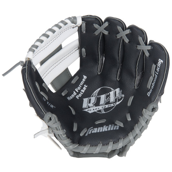 Franklin Sports 10.5-inch Teeball Recreational Black/ Grey/ White Right Handed Thrower Glove