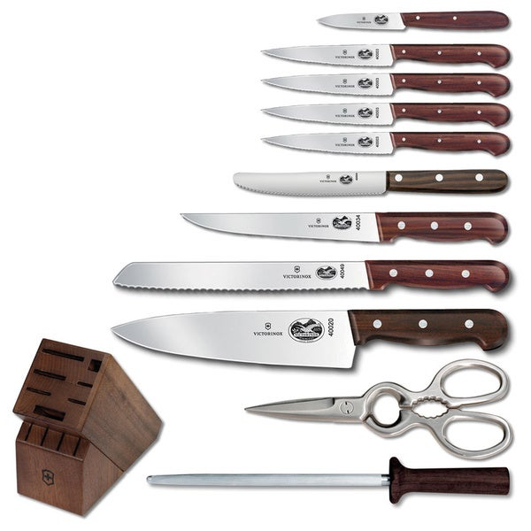 Victorinox Swiss Army Rosewood 12-piece Block Set