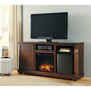 Signature Design by Ashley Porter Rustic Brown Extra Large TV stand with Fireplace