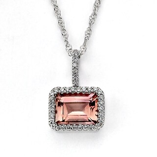 Neda Behnam Diamonds for a Cure 14k White Gold Pink Tourmaline 18-inch Pendant Chain Necklace