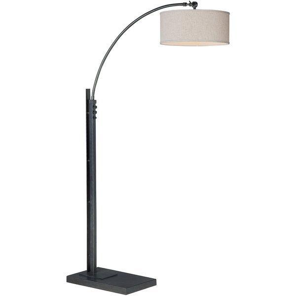 Beckett Black Portable Floor Arc Lamp