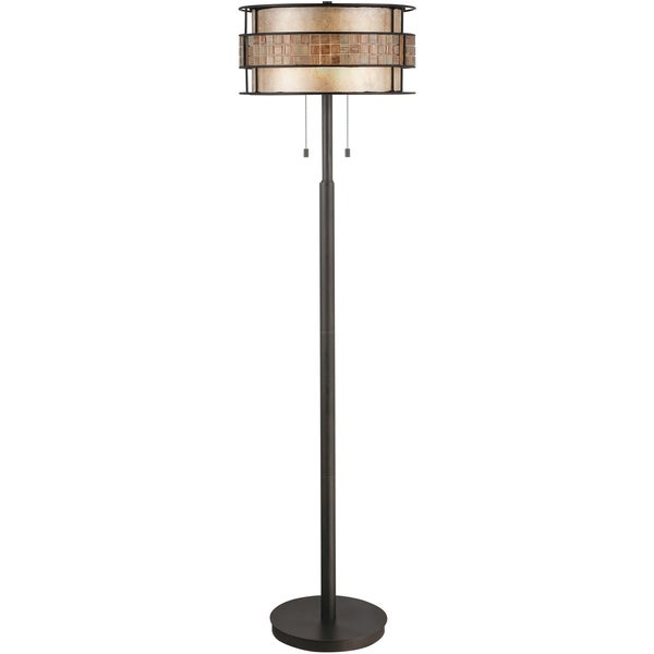 Laguna 2-light Renaissance Copper Floor Lamp