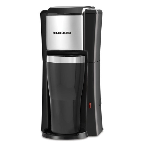 Black  and  Decker Single Serve Coffee Maker Black 13983907