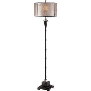 Mosman Rustic Two-tone and Mica Shade Floor Lamp