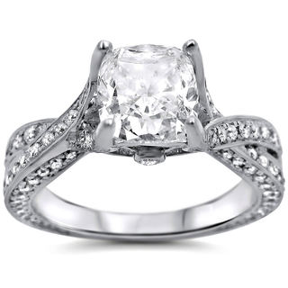 14k White Gold 1 4/5ct Cushion-cut White Diamond Clarity Enhanced Engagement Ring (G-H, SI1-SI2) (UGL)