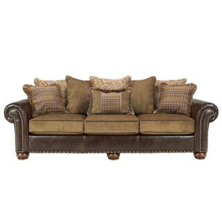 Signature Design by Ashley 'Briar Place' Antique Brown Sofa