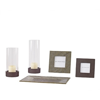 Signature Design by Ashley Siddalee 5-piece Rust Faux Slate Accessory Set