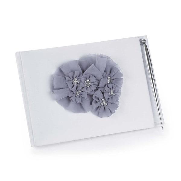 Hortense B. Hewitt Glamorous Grey Guest Book/ Pen Set