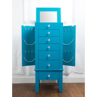 Hives & Honey Crystal Blue Jewelry Armoire
