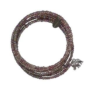 Naked Lavender Expandable Wraparound 7 Day Elephant Charm Bracelet