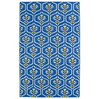 Hollywood Blue Flatweave Rug (5' x 8')