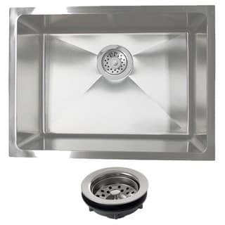 Phoenix PLZ10BG-REG 23-inch 18-gauge Stainleess Steel Single Bowl Undermount Kitchen Sink