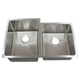 Phoenix PLZ20BG 32-inch 18-gauge Stainless Steel Double Bowl Undermount Kitchen Sink