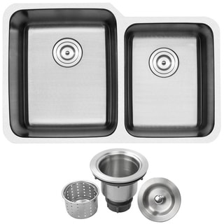 Ticor 1205BG-BASK 32-inch 16-inch Stainless Steel Undermount Double Bowl Kitchen Sink
