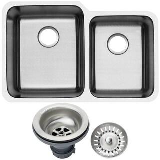 Ticor 1205BG-DEL 32-inch 16-gauge Stainless Steel Undermount Double Bowl Kitchen Sink
