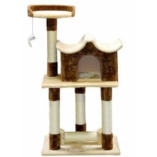 Go Pet Club Beige / Brown 44-inch Cat Tree