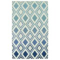 Hollywood Blue Ombre Flatweave Rug (9' x 12')