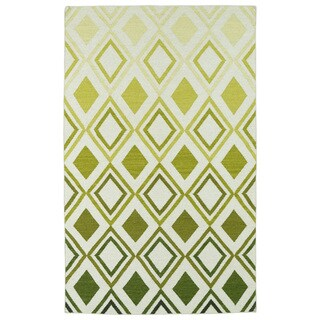 Hollywood Green Ombre Flatweave Rug (5' x 8')