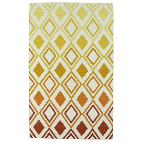 Hollywood Multi Ombre Flatweave Rug (5' x 8')