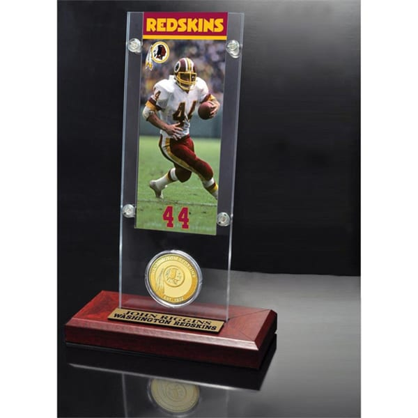NFL John Riggins Green Bay Packers Tickets and Bronze Coin Acrylic Desktop