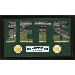 NFL New York Jets 'Word Art' Bronze Coin Panoramic Photo Mint