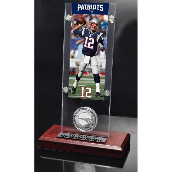 NFL Tom Brady New England Patriots Ticket and Minted Coin Desktop Acrylic