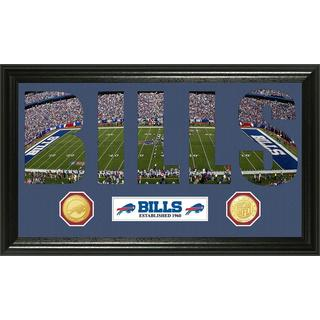 NFL Buffalo Bills 'Word Art' Bronze Coin Panoramic Photo Mint