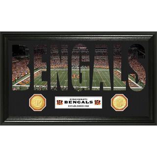 NFL Cincinnati Bengals 'Word Art' Bronze Coin Panoramic Photo Mint
