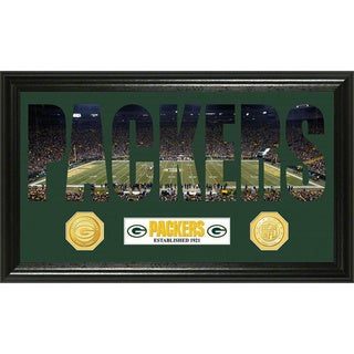 NFL Green Bay Packers 'Word Art' Bronze Coin Panoramic Photo Mint