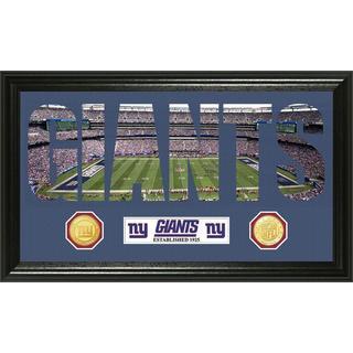 NFL New York Giants 'Word Art' Bronze Coin Panoramic Photo Mint