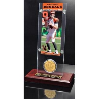NFL Andy Dalton Cincinnati Bengals Ticket and Bronze Coin Desktop Acrylic