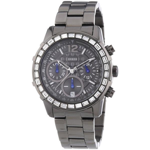 Guess Women's W0016L3 Grey Chronograph Watch