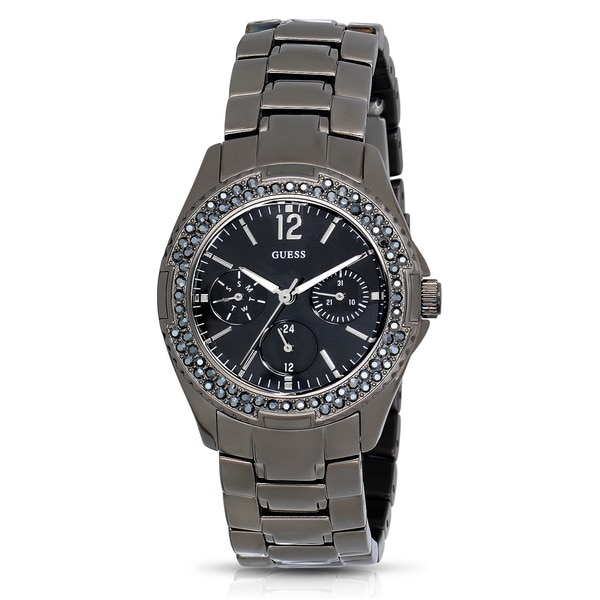 Guess Women's W0022L1 Silver Stainless Steel Chronograph Watch