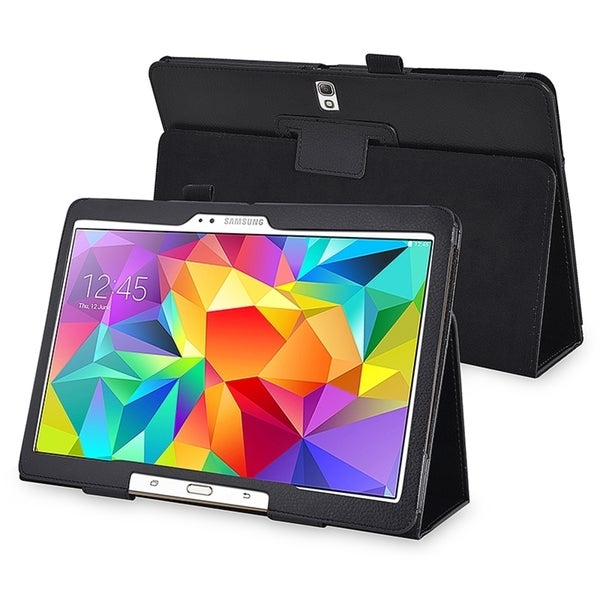 INSTEN Black Book-style Stand Leather Case for Samsung Galaxy Tab S 10.5 T800