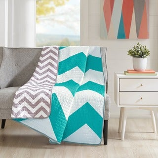 Mi Zone Aries Quilted Reversible Throw