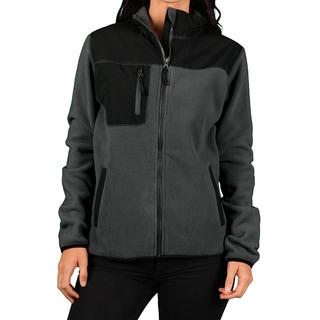 Hartwell Women's Grey/ Black Zip Fleece Outdoor Jacket