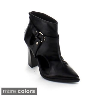 Bumper Women's 'Odin-04' Pointed Toe Chunky Ankle Booties