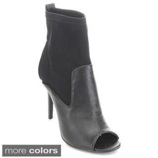Bumper Women's 'Kensy-01' Peep-toe Stiletto Booties